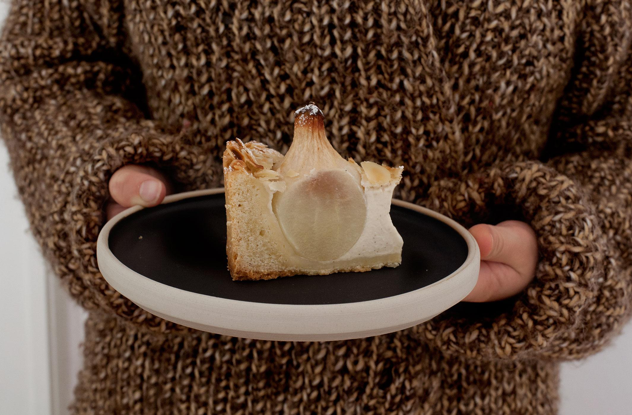 Birnen-Vanillepudding-Tarte mit Zimt und MandelnMG_4768