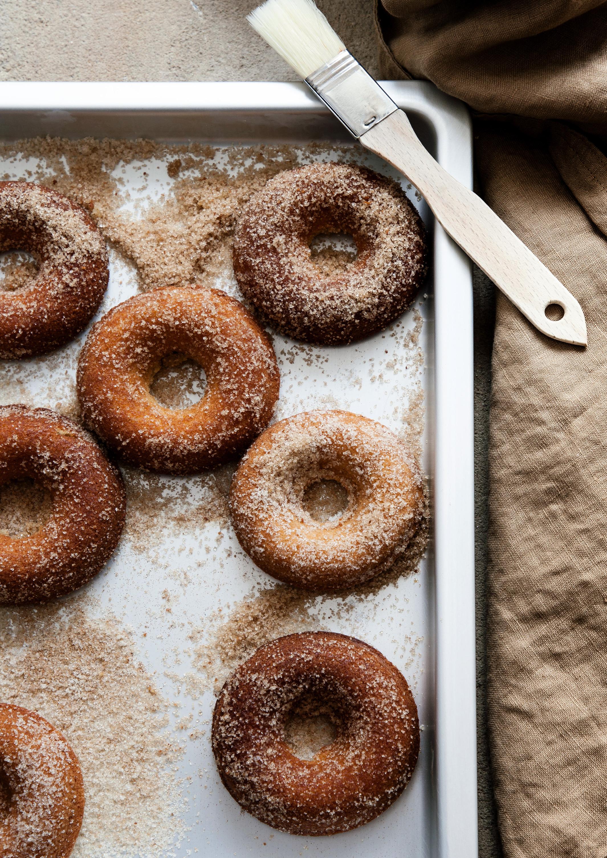 Fluffige Apfel Donuts
