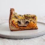 Kürbis Tart mit Pilzen und Fourme d'Ambert
