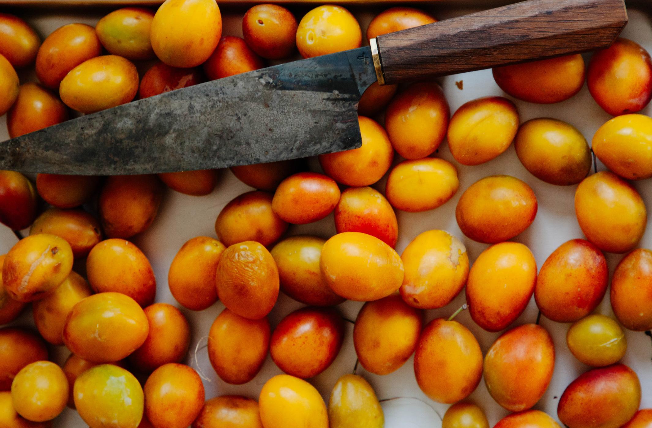 Marmelade aus gelben Pflaumen