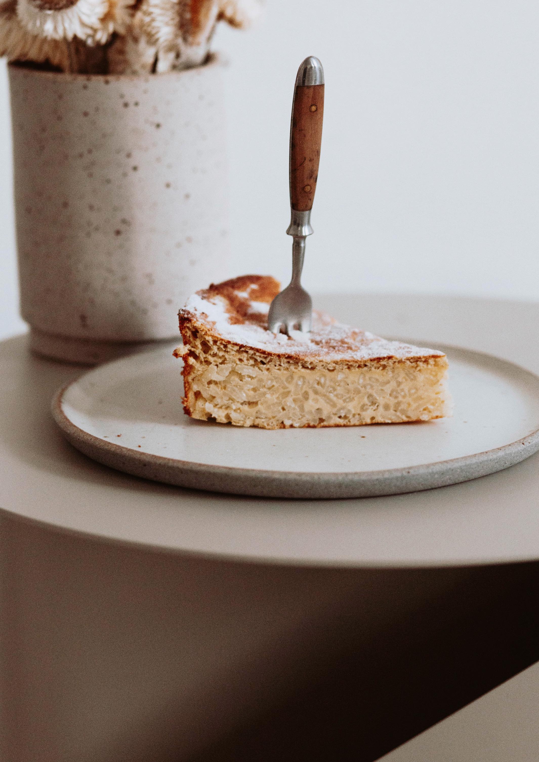 Torta di Risa,Milchreis Kuchen mit Risotto Reis